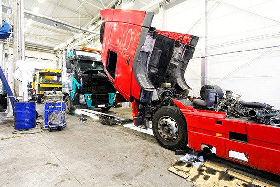 semi truck repair j w hunt